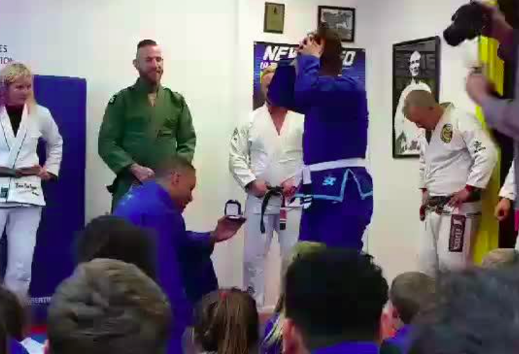 BJJ Black Belt Promotion Turns Out To Be a Beautiful Marriage Proposal