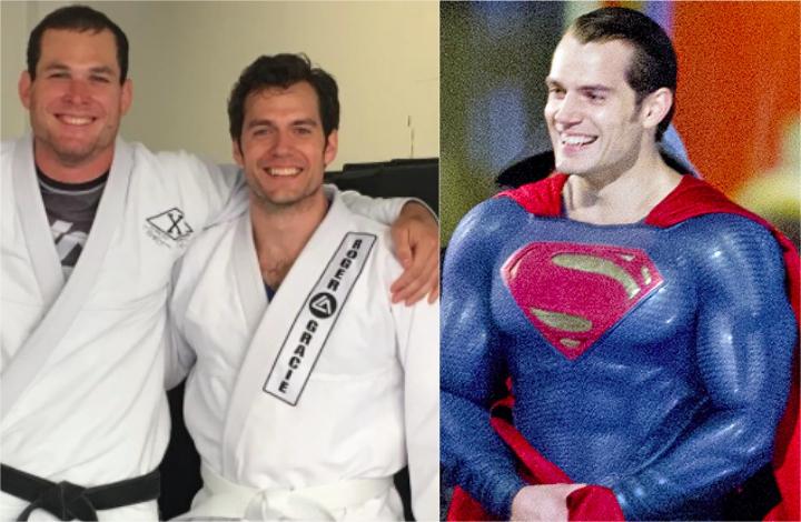 Superman Actor Henry Cavill Trains Jiu-Jitsu w/ Roger Gracie