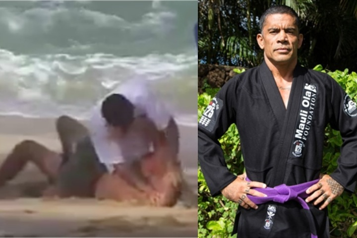 Surfer Brah Paddles into Surf Competition; Gets Greeted By Jiu-Jitsu Beach Enforcer