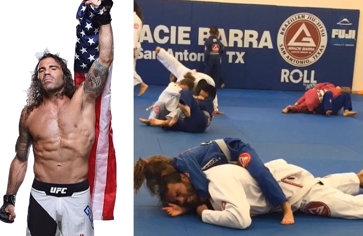 UFC's Clay Guida trains with BJJ Gi and white belt