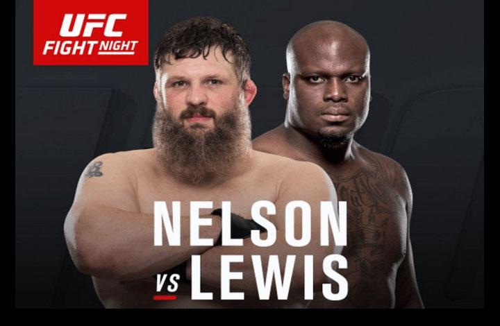 Roy Nelson vs Derrick Lewis UFC Fight Night – FULL Fight