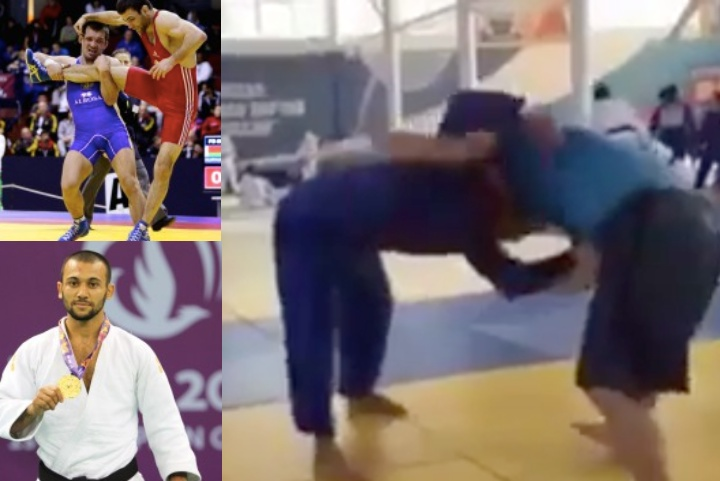 When a World Class Wrestler Grapples a World Class Judoka