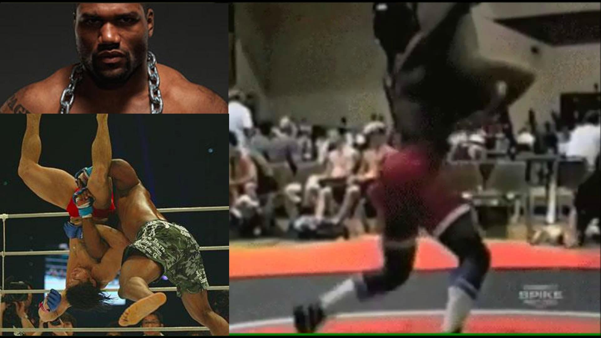 Watch: Rampage Jackson Powerbombing in High School Wrestling