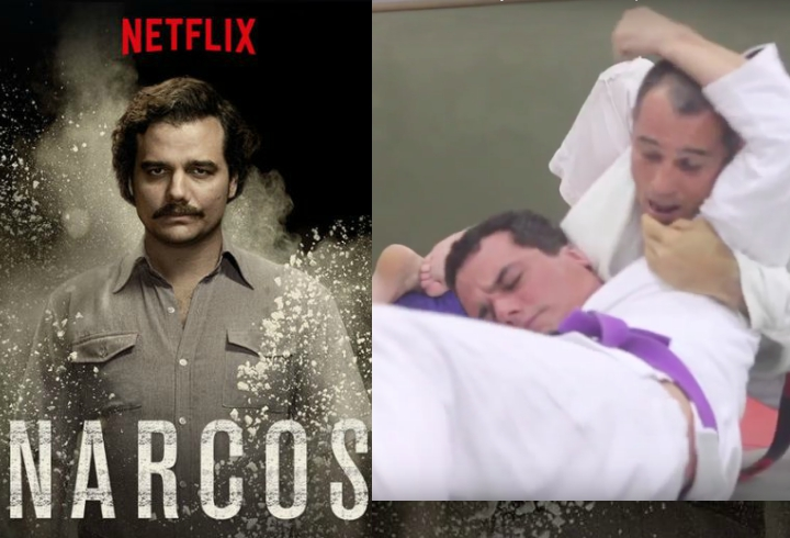 Purple Belt Pablo Escobar from 'Narcos' Rolling With Royler & Rickson Gracie