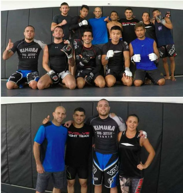 I had an Ossome Pro MMA training session this morning at Evolve MMA, led by coach Heath Sims with BJJ and Muay Thai world champions Michelle Nicolini, Bruno Pucci, Eduardo Rigatto Novaes, Alex Silva, Yodsanan Sityodthong, Dejdamrong Sor Amnuaysirichoke, Pornsanae Sitmonchai and more...