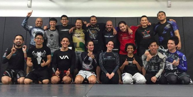 One of Rick's 10 Planet Jiu-Jitsu classes in Singapore