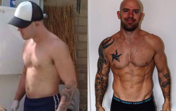 BJJ pro Kit Dale before and after practicing a proper diet