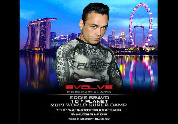 Week Long Camp With Eddie Bravo at Evolve MMA in Singapore