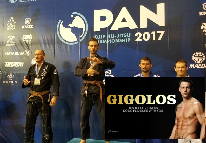 TV Star Male Gigolo Nick Hawk Wins Pans & Promoted to Black Belt by Robert Drysdale