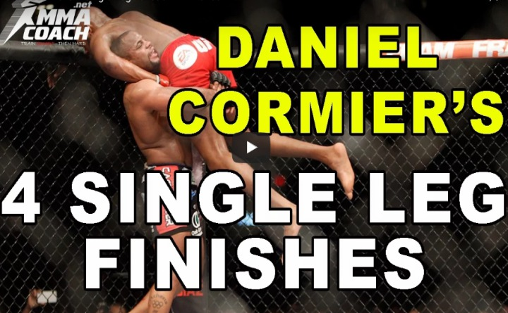 How To Do Daniel Cormier's 4 Single Leg Takedown Finishes
