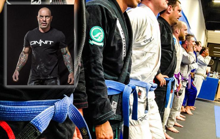 Joe Rogan's Recipe For Getting Good At BJJ: Repeatedly Demolish Blue Belts