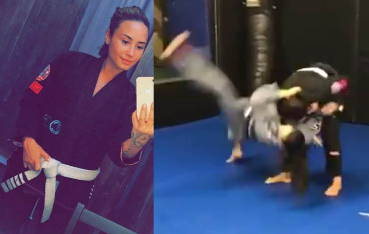 Demi Lovato Close To A Blue Belt – Hitting Takedowns on Her Instructor!