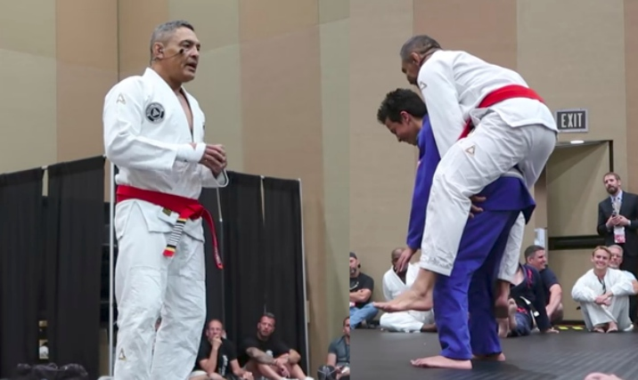 Rare Footage: Rickson Gracie Seminar at MAIA Supershow 2017