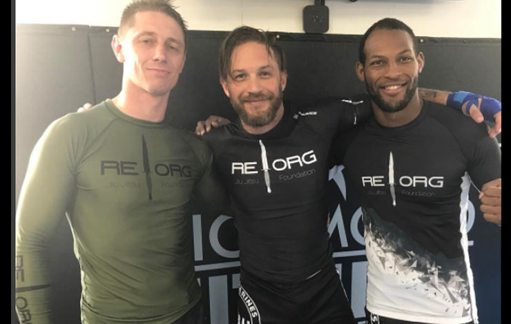 Tom Hardy Spotted and Filmed Doing Jiu-Jitsu With Marines