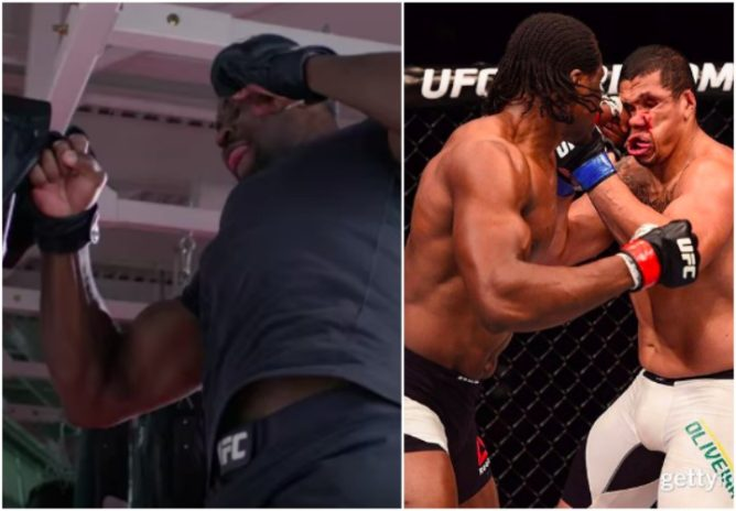 Video: Uriah Hall Spars w/ Francis Ngannou 'One of the Scariest