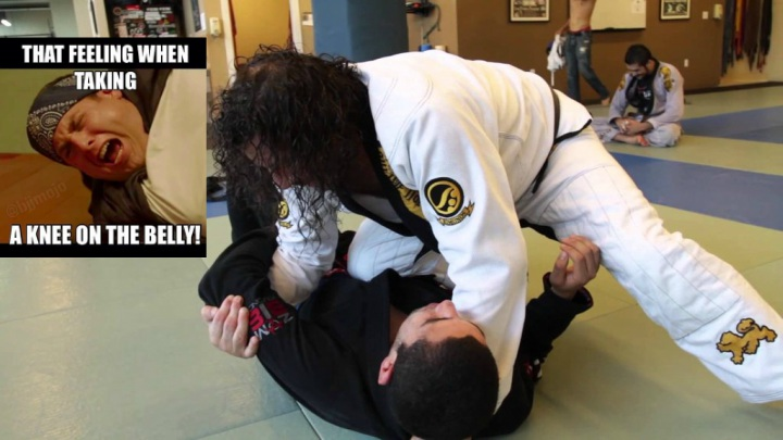 Opponent Too Defensive? Use The Knee On Belly Pressure & Have Some Fun