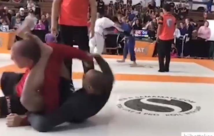 Someone Used A Choke Similar To Eddie Cummings' Pillory Choke And Submitted Opponent In Competition