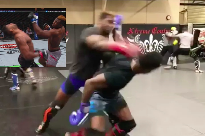 Video: Uriah Hall Spars w/ Francis Ngannou 'One of the Scariest Moments of My Life'