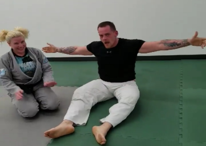 Large Man Blown Away by Smaller Female BJJ Black Belt's Skills