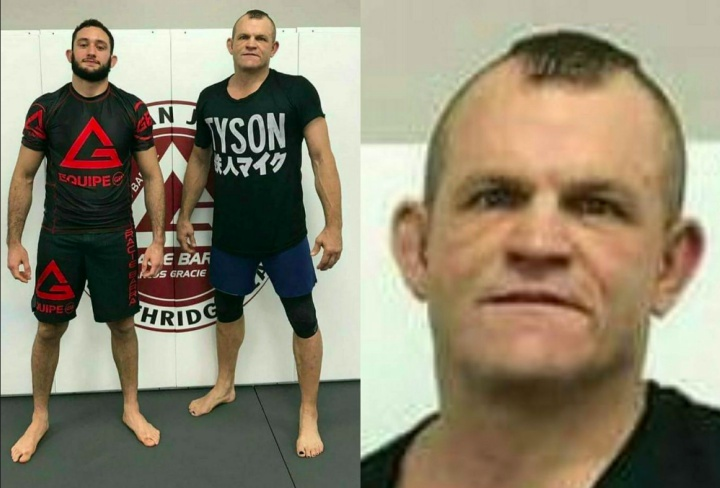 Goatee-less Chuck Liddell Back On The Mat Training BJJ with Gabriel Arges