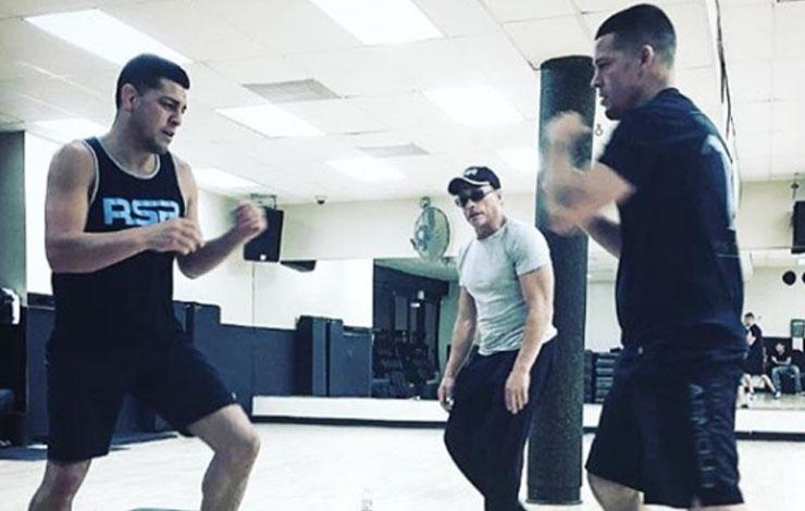 Nick Diaz Teases Return, Visits UFC Performance Institute