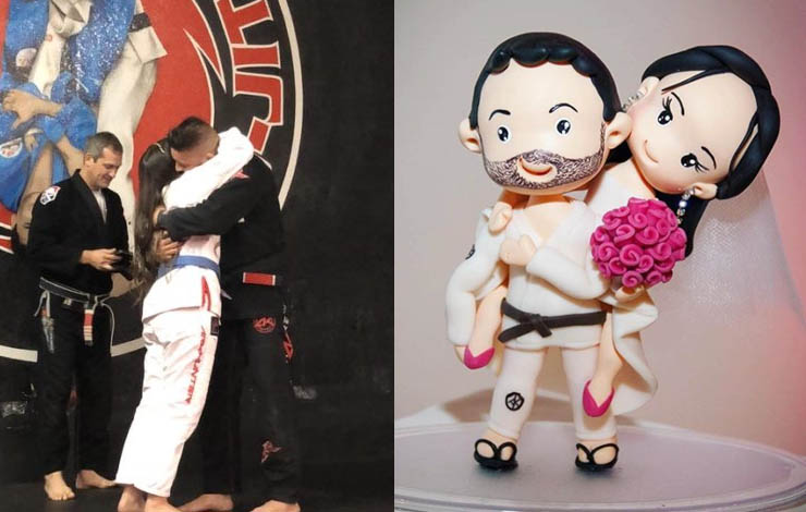 Best of BJJ Weddings As A New Couple Marries on BJJ mats