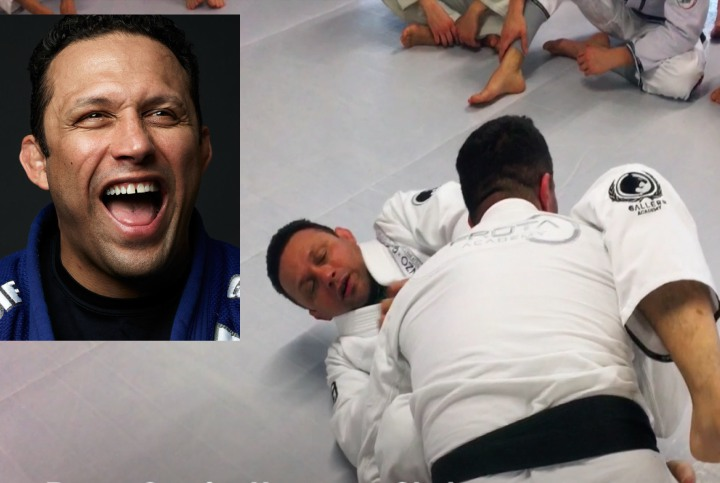 Renzo Gracie's Sneaky Choke Counter to the Over Under Pass