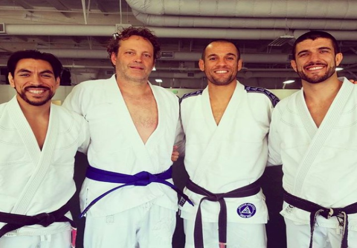 Actor Vince Vaughn Promoted to Blue Belt in BJJ After 2 years of Training