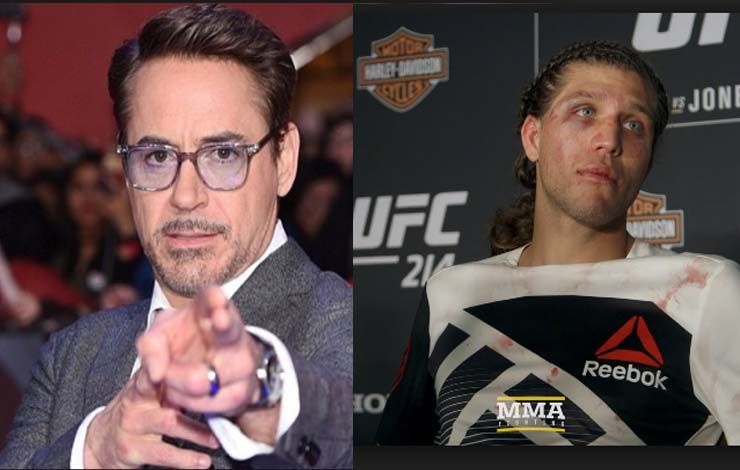 Robert Downey Jr. supports Brian Ortega's Jiu-Jitsu foundation