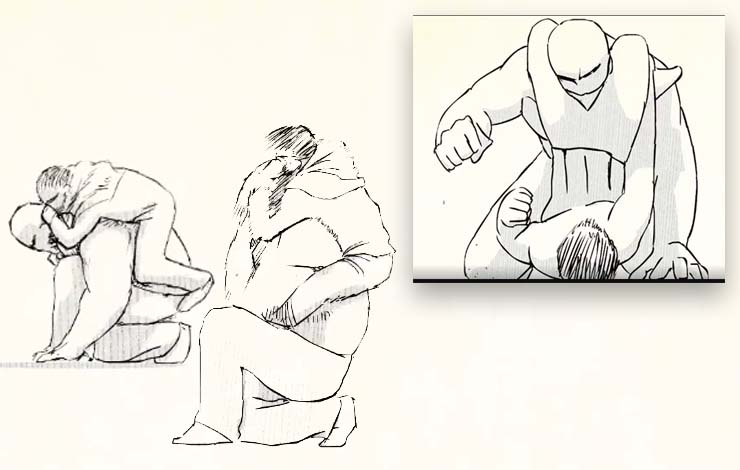 Artist Pens Animated Cartoon Demonstrating the Efficiency Of Jiu Jitsu Against a Larger Opponent