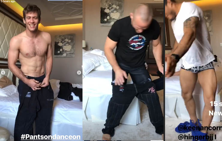 Viral BJJ Challenge: Keenan Cornelius, Lucas Hulk and Hinger Put Gi Pants On Without Hands