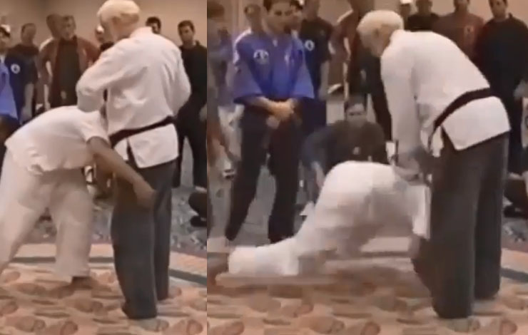 "Amazing ""Pressure Point"" Counter to the Double Leg Takedown"
