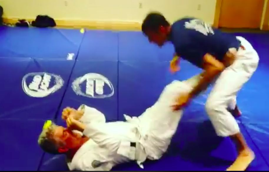 Anthony Bourdain Training with Rener Gracie