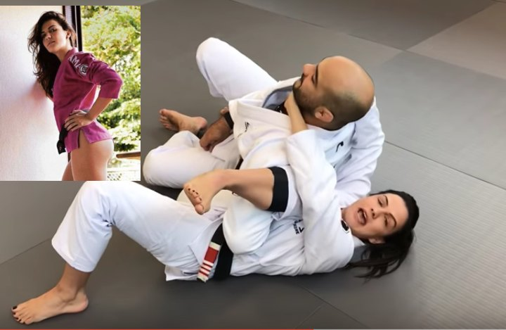Kyra Gracie's Great Detail To Finish The Omoplata