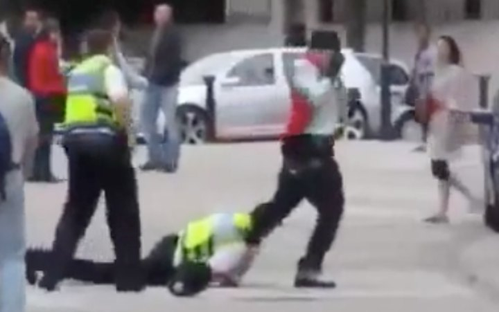 British Cop With World's Worst Ever Single Leg Takedown Attempt