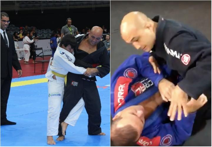 BJ Penn Does BJJ Exhibition Match & Shows A Half Guard Pass