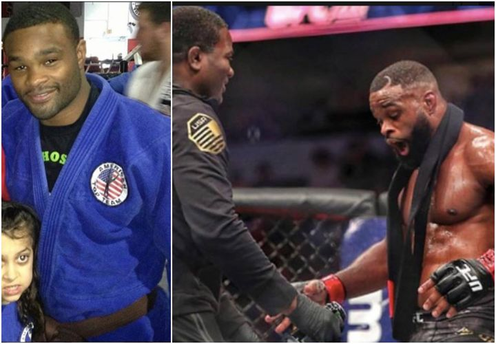 Coach Din Thomas On Why He Promoted Tyron Woodley To Black Belt in the Octagon
