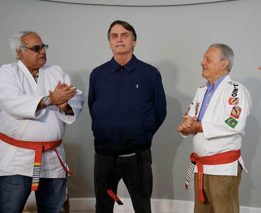 Elections - Brazil Presidential Candidate Jair Bolsonaro Receives