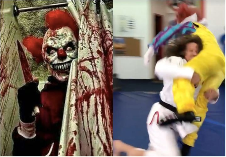 How to defend yourself against a Killer clown with BJJ