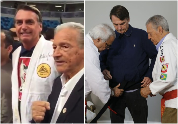Brazil Presidential Candidate Jair Bolsonaro Receives Honorary BJJ Black Belt from Gracie Family
