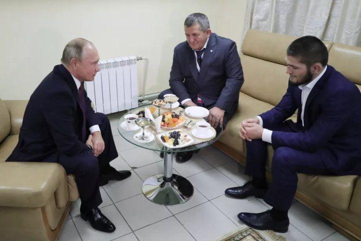 Khabib Gets Hero Welcome Back Home From Putin