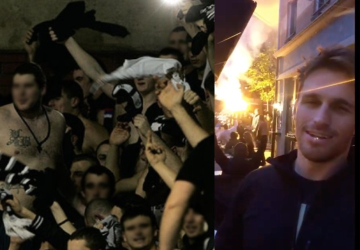 Clark Gracie Has Close Encounter with Infamous Football Supporters 'Grobari' in Belgrade, Serbia