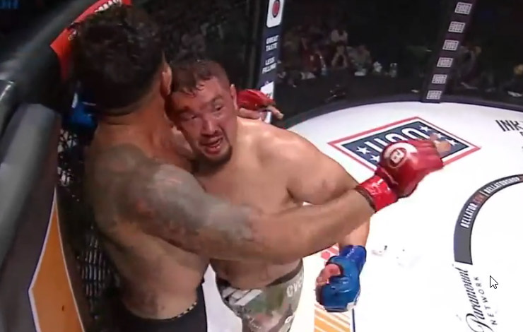 Frank Mir Taps To Punches Over At Bellator