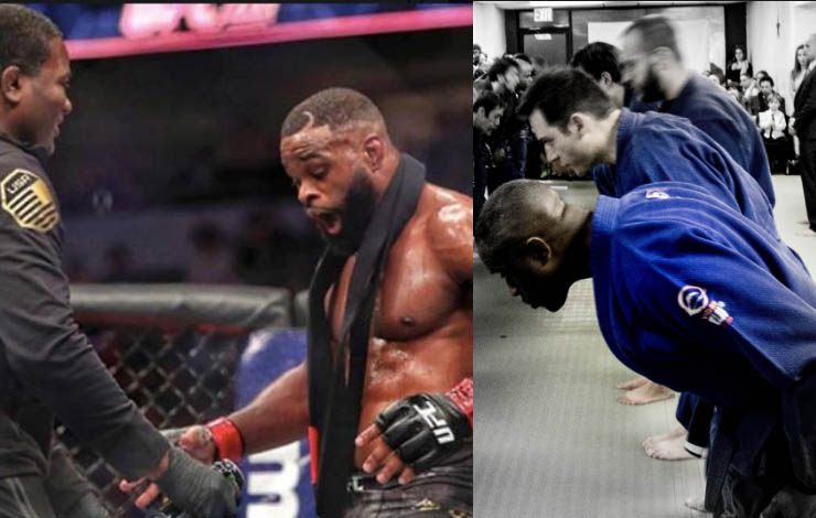 Woodley's BJJ Coach: First Thing You learn At BJJ – How To Bow to Mat and Kiss the Instructor's A**