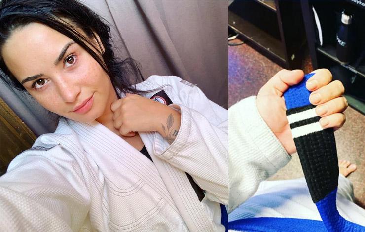 Demi Lovato Earns a New Stripe in Jiu-Jitsu – Mainstream Media Equates it to Degree