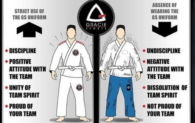 Gracie Sports Academy Shames People Not Wearing the Gracie Branded Gis