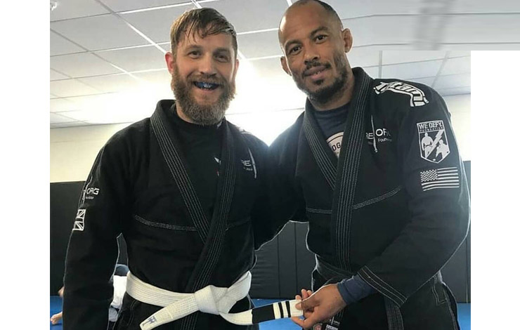 Tom Hardy Awarded 2nd Stripe on BJJ Belt