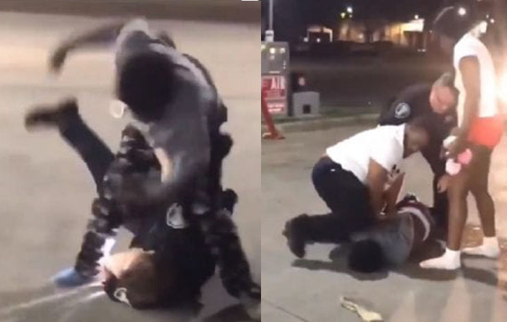 Citizen Controls Suspect After Police Officer Is Unable to Arrest