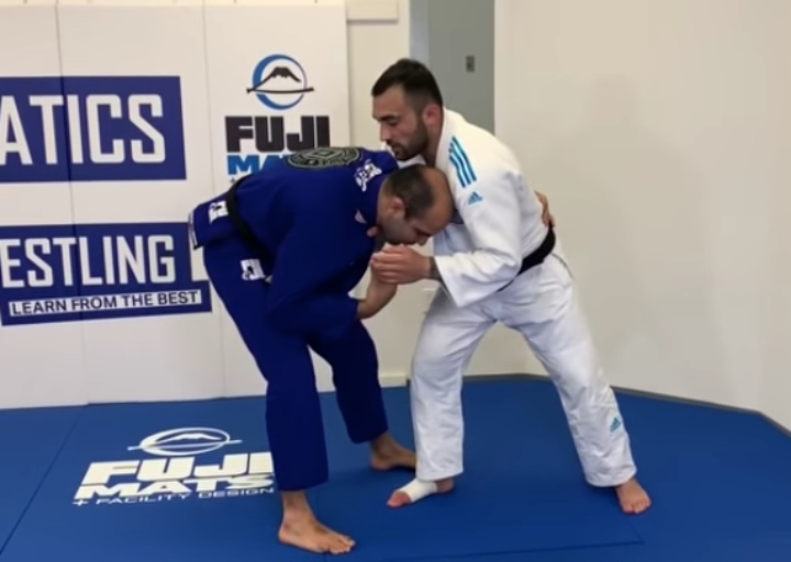 Olympic Judo Champ Ilias Iliadis Has A Great Throw Against BJJ Guys with a Low Stance