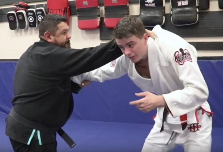 Breaking a 235 Pound Man's Gi Grip